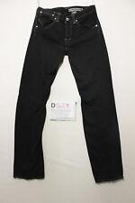 Levi's engineered 707 black boyfriend jeans used (Cod.D529) Size 44 W30 L34
