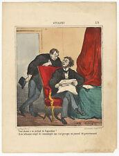 Karikatur/Satire : CHAM (*1819). - Lithographie, 19. Jahrhundert