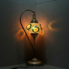 Turkish Moroccan Colorful Stained Glass Bedside Mosaic Table Lamp Home Decor