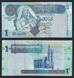 Libia 1 dinar 2004 FDS/UNC Pick-68a  A-07