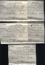 1904 LEITH, Edinburgh POLICE OFFICE receipts SUPPLY GAS & to EXTINGUISHING