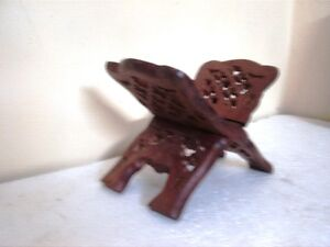 "Wooden Book Bible Stand Sheesham Wood 10"" Book holder Home Decor New"