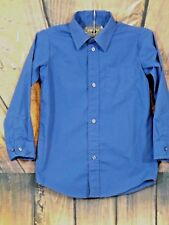 George Boys Royal Blue Long Sleeve Button Front Dress Shirt Size S/Ch 6-7