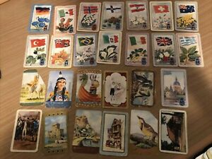 Playing card / swap card x26 Coles and Woolies mixed lot showing wear and damage