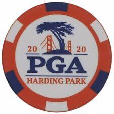 2020 PGA Championship (Harding Park) - Rojo/Blanco/Azul-POKER CHIP GOLF BALL MARKER