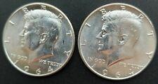 1964p Kennedy Half Dollars (Lot of 2)