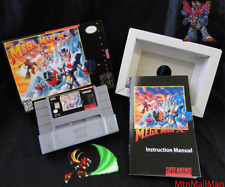 SNES 1996 Mega Man X3 CIB Authentic Cart + Dust,Tray,HQ Custom Box & Manual NICE