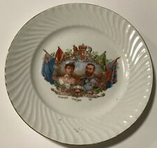 """Antique KING GEORGE V & QUEEN MARY 1911 CORONATION SMALL 5 3/4"""" PLATE (Germany)"""
