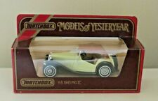 MATCHBOX MODELS OF YESTERYEAR Y-8 1945 MG TC - CREAM AND BLACK BOXED