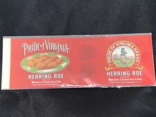 Dollhouse miniatures Food 1:12 Vintage label Can of Herring Roe NEW
