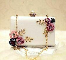Evening Bag Mini Wedding Dinner Clutch High Quality Women Handmade Flower Purse