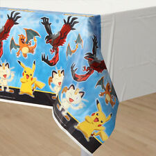 Pokemon Birthday Table Cover Measures 54 in x 96 in, 36 sq ft