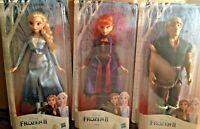"Disney FROZEN 2 Elsa, Anna and Kristoff 11"" Dolls NEW"
