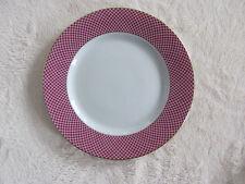 Block Spal Portugal - Sunset- Design on Raspberry Rim- Bread & Butter Plate(s)