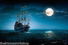 PIRATE SHIP - 3D LENTICULAR PICTURE 400mm X 300mm (NEW)