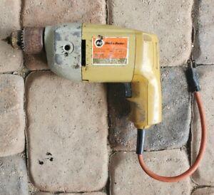 "Old Black & Decker Corded Drill 1/2"" - No. 7204"
