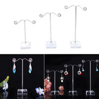 3Pcs Acrylic Metal Tree Earring Necklace Jewelry Display Stand Rack Holder Eager