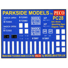 Modelmaster MMPC28 Transfers for B.R. Shock Absorbing Open Wagon