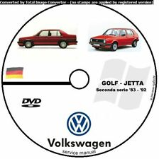 WORKSHOP MANUAL MANUALE OFFICINA VOLKSWAGEN GOLF GTI JETTA II 1983 1992  CD DVD