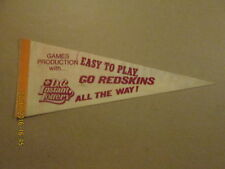 NFL Redskins EASY TO PLAY DC Instant Lottery Pennant