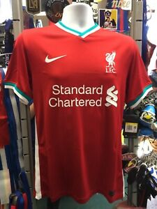 Nike Liverpool Home 20-21 Soccer Jersey Red White Tale Yellow Size M Men's Only