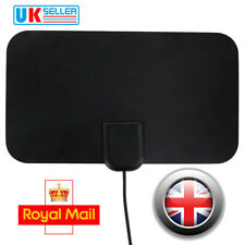 Super Mini Thin Flat Indoor Antenna Aerial Scout HDTV VHF UHF DTV 25DB HD TV Fox