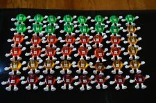 CHRISTMAS Vintage Plastic FIGURE 48 Tree HAPPY LIGHTS Covers M&M's Candy Set Lot