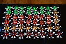 CHRISTMAS Vintage Plastic FIGURE 48 Tree HAPPY LIGHTS Covers M&M's Candy Set Lot
