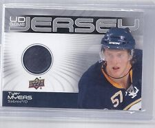 10-11 2010-11 UPPER DECK SERIES TWO TYLER MYERS UD GAME JERSEY GJ2-TM SABRES