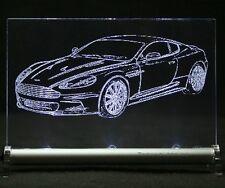 Aston Martin DBS LED SCUDO Illuminated Sign incisione auto