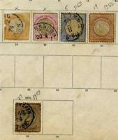 GERMANY & AUSTRIA CLASSIC STUCK ON PAGES INCLUDES SC#35 MINT NO GUM AS SHOWN