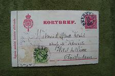 Sweden/Sverige PKXP No 34A Cancel on 1897 Postcard sent to Amsterdam 10 > 5 Ore