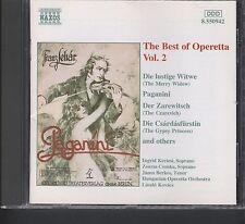The Best of Operetta Vol.2  Naxos Naxos Merry Widow Paganini The Gypsy Princes