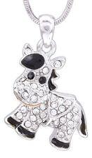"Horse Necklace, Rhodium Plated 18"" Chain w/ Swarovski Crystal Elements"