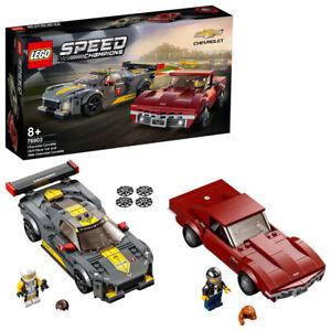 Lego 76903 Speed Champions Chevrolet Corvette C8.R & 1968 Chevy Car Set 521pc 8+
