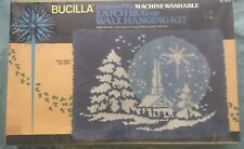 """Latch Hook Rug Kit By Bucilla """"Silent Night� 20 X 27 New Sealed Wall Hanging"""