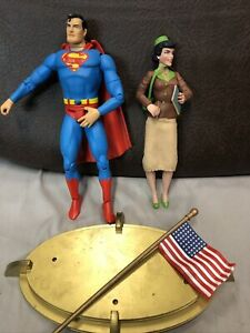 Classic Silver Age Superman and Lois Lane Deluxe Action Figures Set DC Direct A2