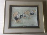 "Christian Alan 1991 Original Mixed Media Art, Framed, 15 1/2"" x 12"" (Image)"
