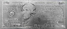 999 SILVER *$10* Dollar Bank Note Banknote Bill Ten Dollars