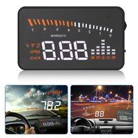 X5 HUD Car Head Up Display OBDII 2 Speed Warning Fuel Consumption Speedometer UK