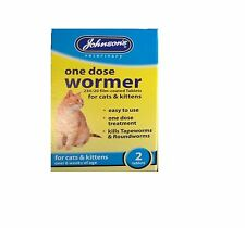 Johnsons One Dose Easy Wormer Dog Cat Worming Tablets Roundworm Tapeworm