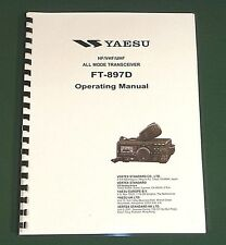 Yaesu FT-897D Instruction Manual - Premium Card Stock Covers & 32 LB Paper!