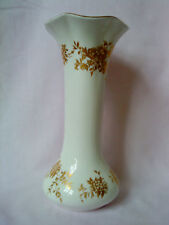 "CROWN STAFFORDSHIRE BEAUTIFUL DECORATIVE VASE 8"" TALL WITH GOLD GILDING"
