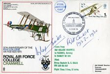 WW2 Battle of Britain ace Douglas Bader signed RAF Cranwell cover