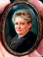 Antique Miniature Framed Portrait Painting on Porcelain KPM Ludwig Sturm c1890