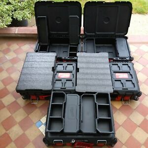 5 x Milwaukee Packout Toolboxes (3 + trays & 2 + foam inlays) + fixings