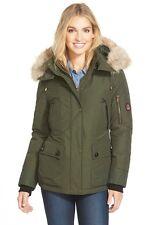 Women's Pendleton 'Expedition' Genuine Coyote Fur Trim Down Parka Jacket Coat L