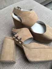 JEFFREY Campbell Umeko Tan Kid Suede Taglia 6.5