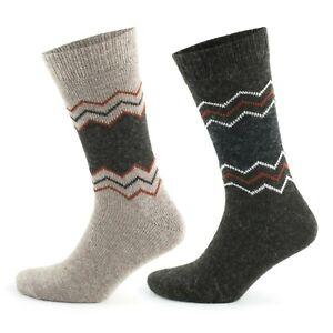 GoWith Alpaca Unisex Wool Winter Knit Warm Thermal Socks | 2 Pairs | Model: 3099