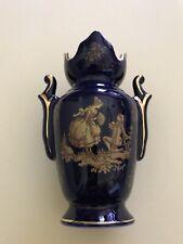 Porcelaine Amphora Cobalt Blue Made And Hand Embellished In Limoges France